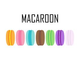 Set of colorful Macaroons isolated on white background