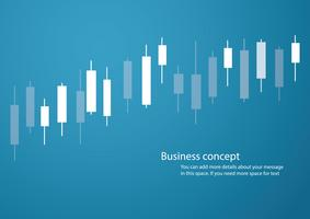 Candlestick stock exchange blue background vector