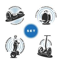 Electric scooter emblems