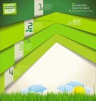 Modelo de design moderno ecologia vetor
