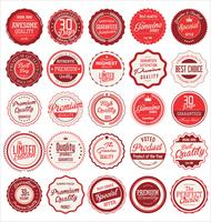 Retro vintage badges and labels collection
