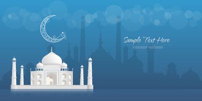 Ramadan Kareem hälsning banner, Ramadan Kareem bakgrund