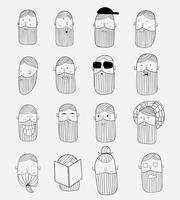 Tema vettoriale Un uomo con baffi e barba