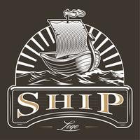 Emblema del barco de la vendimia
