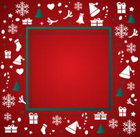 Christmas elements with space  pattern background vector illustration