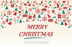 Christmas greeting card with space  pattern background vector illustration