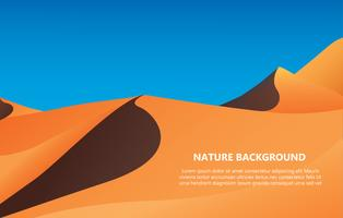 Wüstenhintergrund mit Textraum-Vektorillustration