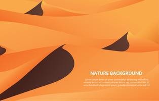 woestijn achtergrond met tekst ruimte vectorillustratie
