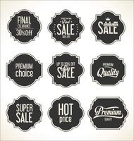 Retro vintage badges en labels-collectie