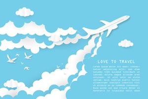 Creative illustration love to travel concept.