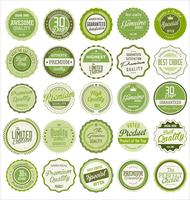 Vintage frames blank retro badges and labels collection