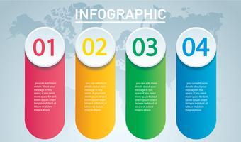 cirkel infografisk. Vektor mall med 4 alternativ. Kan användas för webb, diagram, diagram, presentation, diagram, rapport, steg för steg infographics. Abstrakt bakgrund