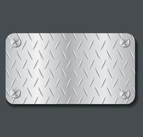 plate metal banner background vector illustration