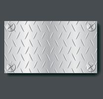 placa de metal banner fondo vector illustration