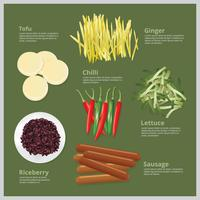 Vektorillustration Ingrediensmat