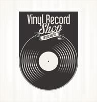 Retro- Schmutzfahne des Vinylaufzeichnungs-Shops