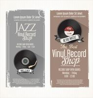 Vinyl rekordbutik retro grunge banner