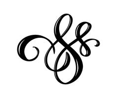 Vector floral calligraphy element flourish. Hand drawn divider for page decoration and frame design illustration swirl ornament. Decorative silhouette for wedding cards and invitations