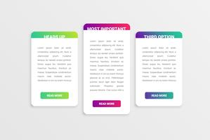Colorful modern white card template with colorful design
