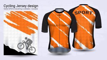 Maglie ciclismo, modello mockup sport manica corta.