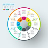 Infographics on vector graphic art.