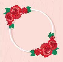 Valentijnsdag wenskaart met rode rozen achtergrond vectorillustratie