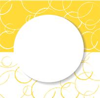 abstract yellow circle background vector