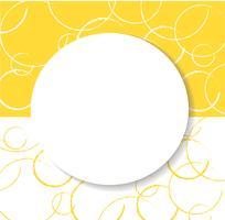 abstracte gele cirkel achtergrond vector