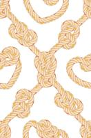 Seamless pattern with rope bending.