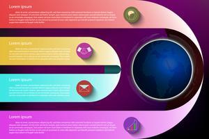 Infografica colorato su sfondo scuro.