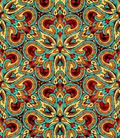 Thai traditional ethnic art abstract, seamless pattern. vector