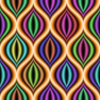 Modello di sfondo senza soluzione di continuità forma concentrica.