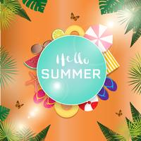Summer Sale banner and background. Vacation and holiday concept. vector