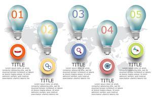 Icone di progettazione e marketing di vettore di infografica