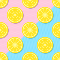 Slices Yellow Lemon Summer Background vector