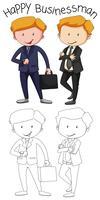 Doodle gráfico de hombre de negocios
