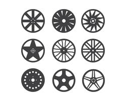 Set of wheel rim isolated on white background