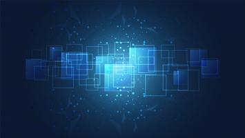 Abstrakte globale Technologie mit Digitalschaltungsbretthintergrund.
