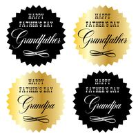 happy fathers day grandfather gold and black graphic emblems
