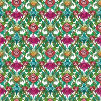 Thai floral motif seamless background.