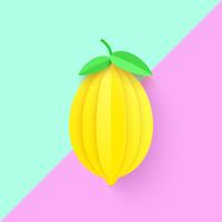 Fundo de papel arte limão 3D