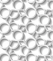 Seamless abstract geometric pattern, prame border futuristic wallpaper, 3d grey tile surface.