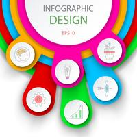 Abstract infographics number options template. vector