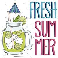 Fundo de verão com limonada