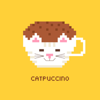 Pixel Art Coffee Cappuccino