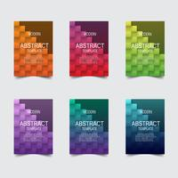 Abstract color tiled texture background, vector design.