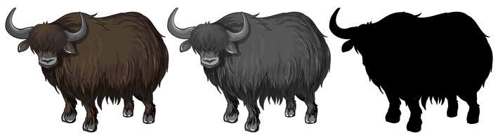 Sats av yak karaktär