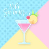 Abstract Pastel Cocktail Background vector