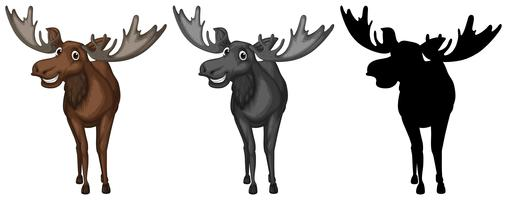 Set van elandkarakter