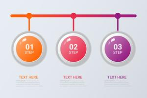 Three steps infographics. Vector business template for presentation and training.